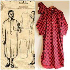 Authentic Vintage Mens Nightshirt and Cap